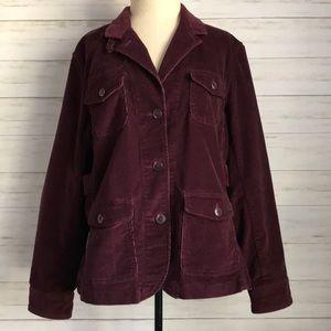 LL BEAN purple corduroy jacket